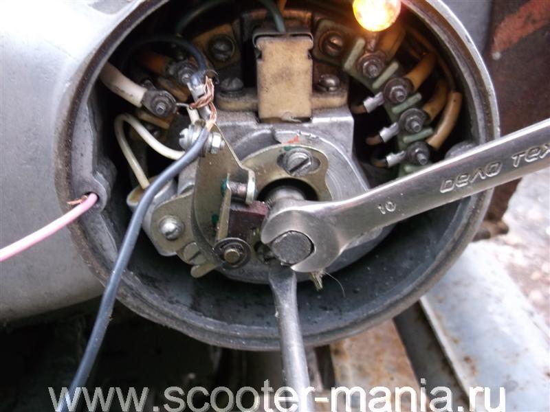 Регулировка зажигания мотоцикла иж