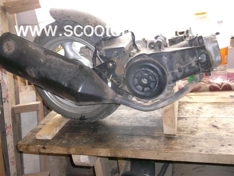 Скутер поршневая схема