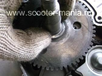 разборка-двигателя-157QMJ-скутера-4t-объемом-150-CC154
