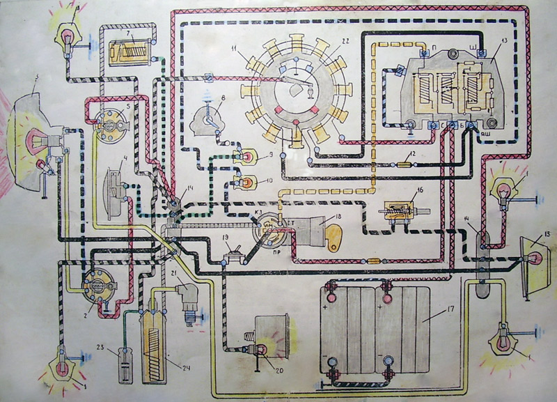 Электросхема мотороллеров «