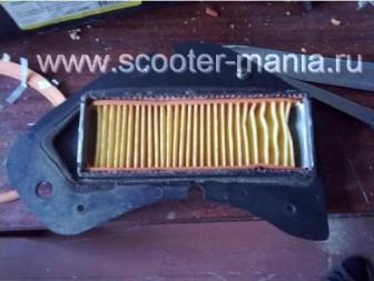 Восстановление-фильтрующего-элемента-на-скутере4