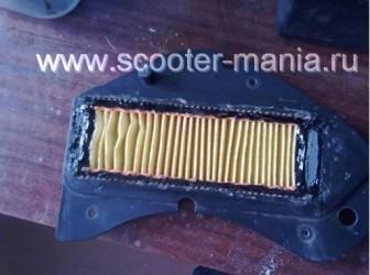 Восстановление-фильтрующего-элемента-на-скутере8