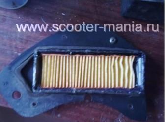 Восстановление-фильтрующего-элемента-на-скутере9