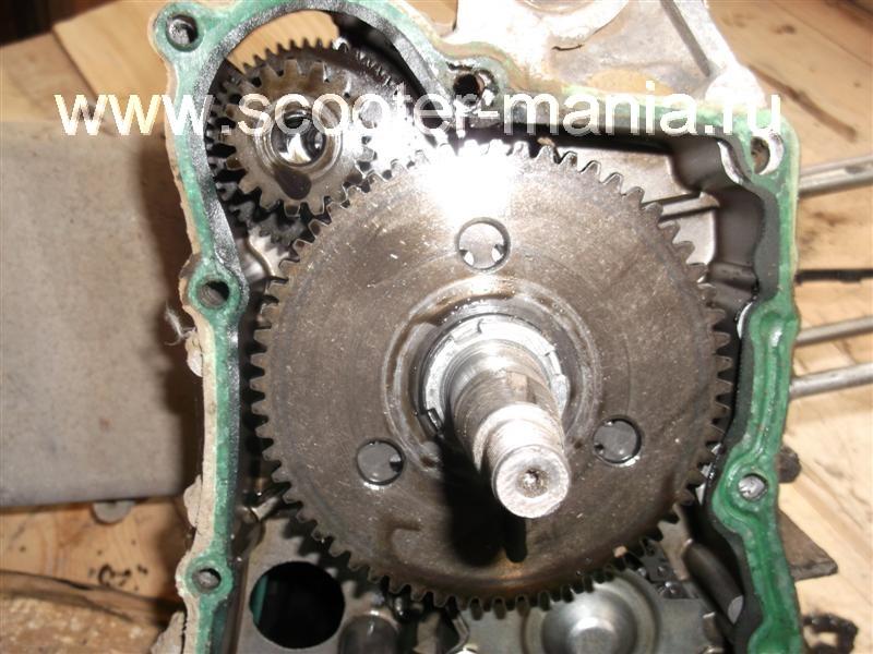 Фотоотчет: Разборка двигателя 157QMJ скутера Atlant (150CC)