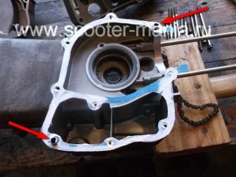 сборка-ремонт-двигателя-157-QMJ-скутера-4т154