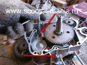 сборка-ремонт-двигателя-157-QMJ-скутера-4т1551