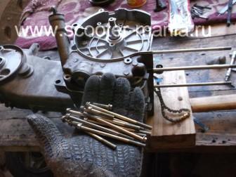 сборка-ремонт-двигателя-157-QMJ-скутера-4т160