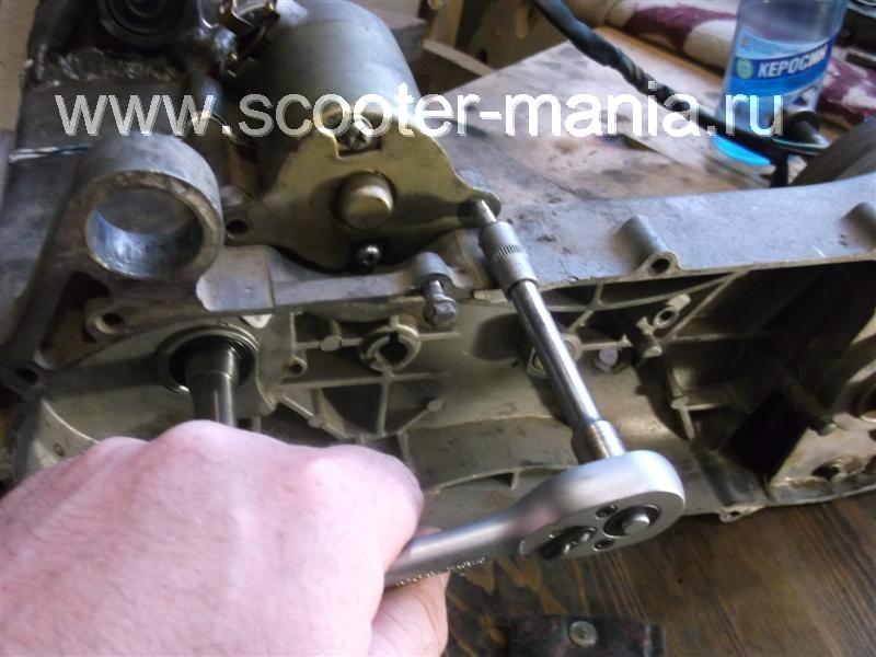 Фотоотчет: Ремонт двигателя 157 QMJ скутера Atlant (150 CC)
