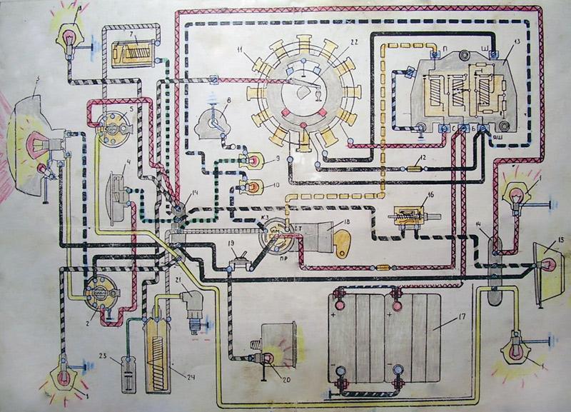 Электросхема мотороллеров «Турист», «Тулица», «Муравей»
