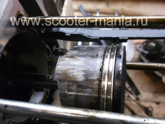 Установка поршневых колец на скутер 4т