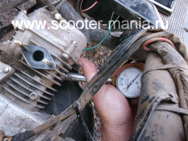 Как проверить компрессию на двигателе скутера?