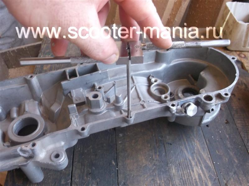 Фотоотчет: Ремонт картера двигателя скутера