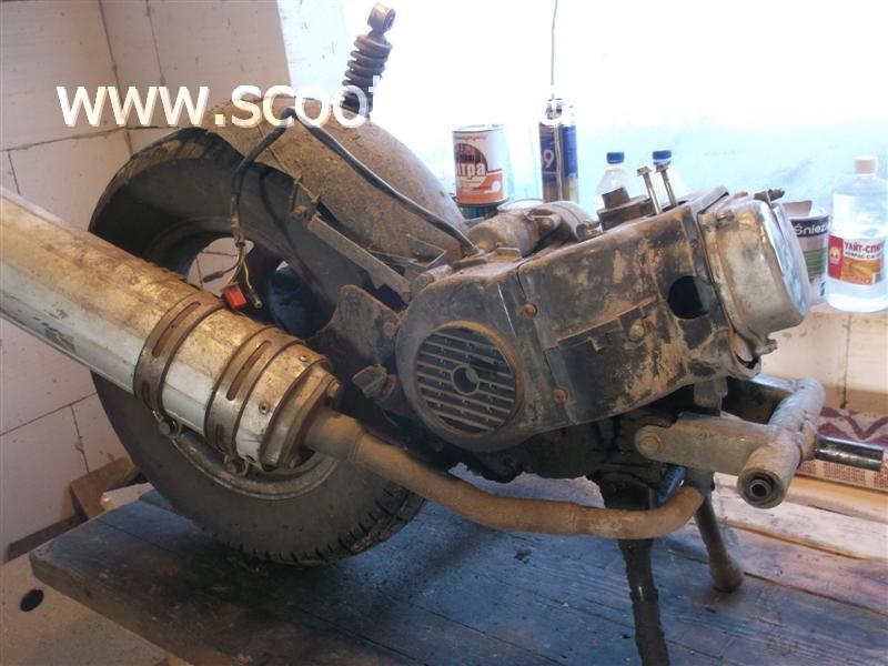 Фотоотчет: Разборка двигателя (LK139QMB) скутера Pioneer Flagman