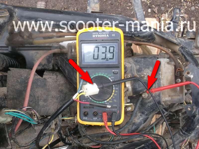 Фотоотчет: Как проверить генератор скутера?