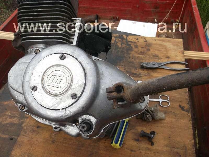Установка кикстартера на двигатель мотороллера «Муравей» (ТМЗ)