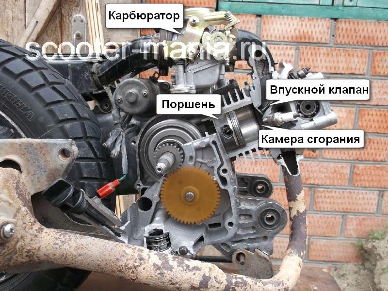 Устройство  двигателя скутера